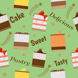 Het ontwerp van de cakeviering Vector Illustratie
