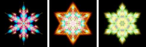Het ontwerp van de caleidoscoop zoals sneeuwkristal Stock Afbeeldingen