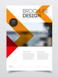 Het ontwerp van de catalogusdekking Templa van de jaarverslag vectorillustratie Stock Afbeelding