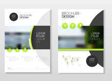 Het ontwerp van de catalogusdekking Templa van de jaarverslag vectorillustratie Royalty-vrije Stock Afbeeldingen