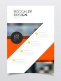 Het ontwerp van de catalogusdekking Templa van de jaarverslag vectorillustratie Stock Foto's