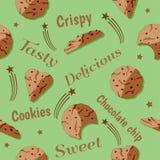 Het ontwerp van de chocoladeschilferviering Stock Illustratie