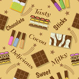 Het ontwerp van de chocoladeviering Royalty-vrije Illustratie