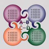 Het ontwerp van de cirkel voor teams Stock Afbeeldingen