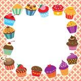 Het ontwerp van de Cupcakeslay-out Royalty-vrije Stock Fotografie