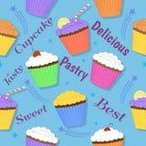Het ontwerp van de Cupcakeviering Vector Illustratie