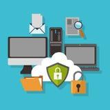 Het ontwerp van de Cyberveiligheid Stock Afbeelding
