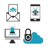 Het ontwerp van de Cyberveiligheid Royalty-vrije Stock Foto