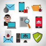 Het ontwerp van de Cyberveiligheid Royalty-vrije Stock Afbeeldingen