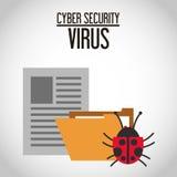 Het ontwerp van de Cyberveiligheid Royalty-vrije Stock Foto's