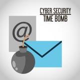 Het ontwerp van de Cyberveiligheid Stock Afbeeldingen