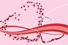 Het ontwerp van de Dag van de romantische St. Valentijnskaart Vector Illustratie