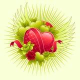 Het ontwerp van de Dag van valentijnskaarten. Stock Foto