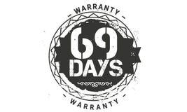het ontwerp van de 69 dagengarantie, beste zwarte zegel royalty-vrije illustratie