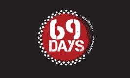 het ontwerp van de 69 dagengarantie, beste zwarte zegel stock illustratie