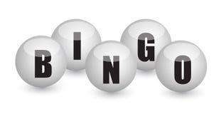 Het ontwerp van de de ballenillustratie van Bingo Stock Foto