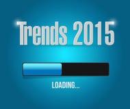 het ontwerp van de de barillustratie van de tendensen 2015 lading Stock Afbeeldingen