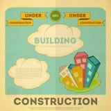 Het ontwerp van de de bouwaffiche Stock Foto's
