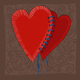 Het ontwerp van de de dagkaart van de valentijnskaart Stock Foto