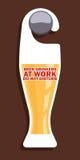 Het ontwerp van de de deurhanger van de bierpartij Stock Afbeelding