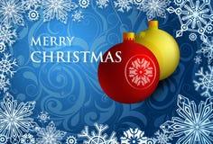 Het ontwerp van de de groetkaart van Kerstmis Stock Afbeelding