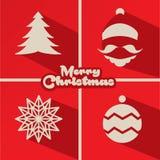 Het ontwerp van de de groetkaart van Kerstmis royalty-vrije illustratie