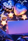 Het ontwerp van de de groetkaart van Kerstmis met document Royalty-vrije Stock Afbeelding