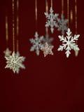 Het ontwerp van de de groetkaart van sneeuwvlokken Royalty-vrije Stock Foto's