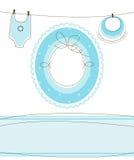 Het ontwerp van de de jongensaankomst van de baby Stock Afbeeldingen