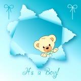 Het ontwerp van de de jongenskaart van de baby Stock Afbeeldingen