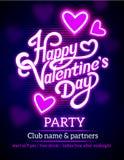 Het Ontwerp van de de Partijvlieger van de valentijnskaartendag Stock Foto