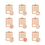 Het ontwerp van de de pictogrammenlijn van de controlelijst Stock Afbeelding