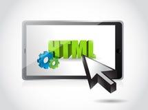Het ontwerp van de de toegangsillustratie van tablethtml Royalty-vrije Stock Foto
