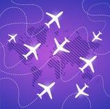 het ontwerp van de de wegenillustratie van de vliegtuigenlucht Royalty-vrije Stock Fotografie