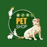 Het ontwerp van de dierenwinkelaffiche Vector Illustratie