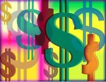 Het Ontwerp van de dollar Stock Afbeeldingen