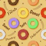 Het ontwerp van de doughnutviering Vector Illustratie