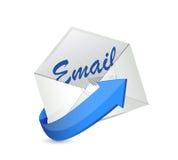 Het ontwerp van de e-mailenvelopillustratie Stock Foto
