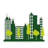 Het ontwerp van de ecologie bescherming en groen concept Royalty-vrije Stock Fotografie
