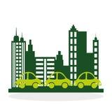 Het ontwerp van de ecologie bescherming en groen concept Stock Foto