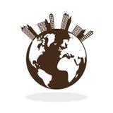 Het ontwerp van de ecologie bescherming en groen concept Stock Afbeelding