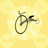 Het ontwerp van de fiets Stock Foto's