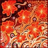 Het ontwerp van de flora absract stock illustratie