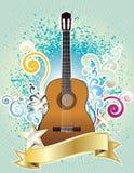 Het ontwerp van de gitaar Royalty-vrije Stock Foto