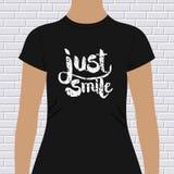Het ontwerp van de Glimlach enkel t-shirt royalty-vrije illustratie