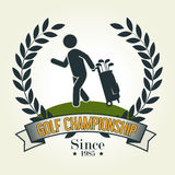 Het ontwerp van de golfsport Stock Foto's