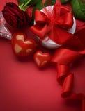 Het Ontwerp van de Grens van de valentijnskaart Stock Foto's