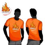 Het ontwerp van de grillt-shirt Royalty-vrije Stock Fotografie