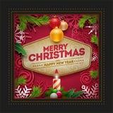 Het ontwerp van de de groetkaart van Kerstmis Royalty-vrije Stock Afbeeldingen