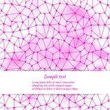 Het ontwerp van de groetkaart met abstract patroon en ruimte voor tekst Stock Foto's